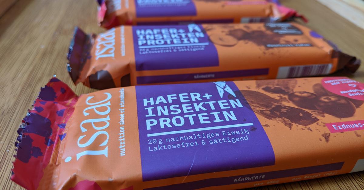 Insektenriegel von Isaac Nutrition.