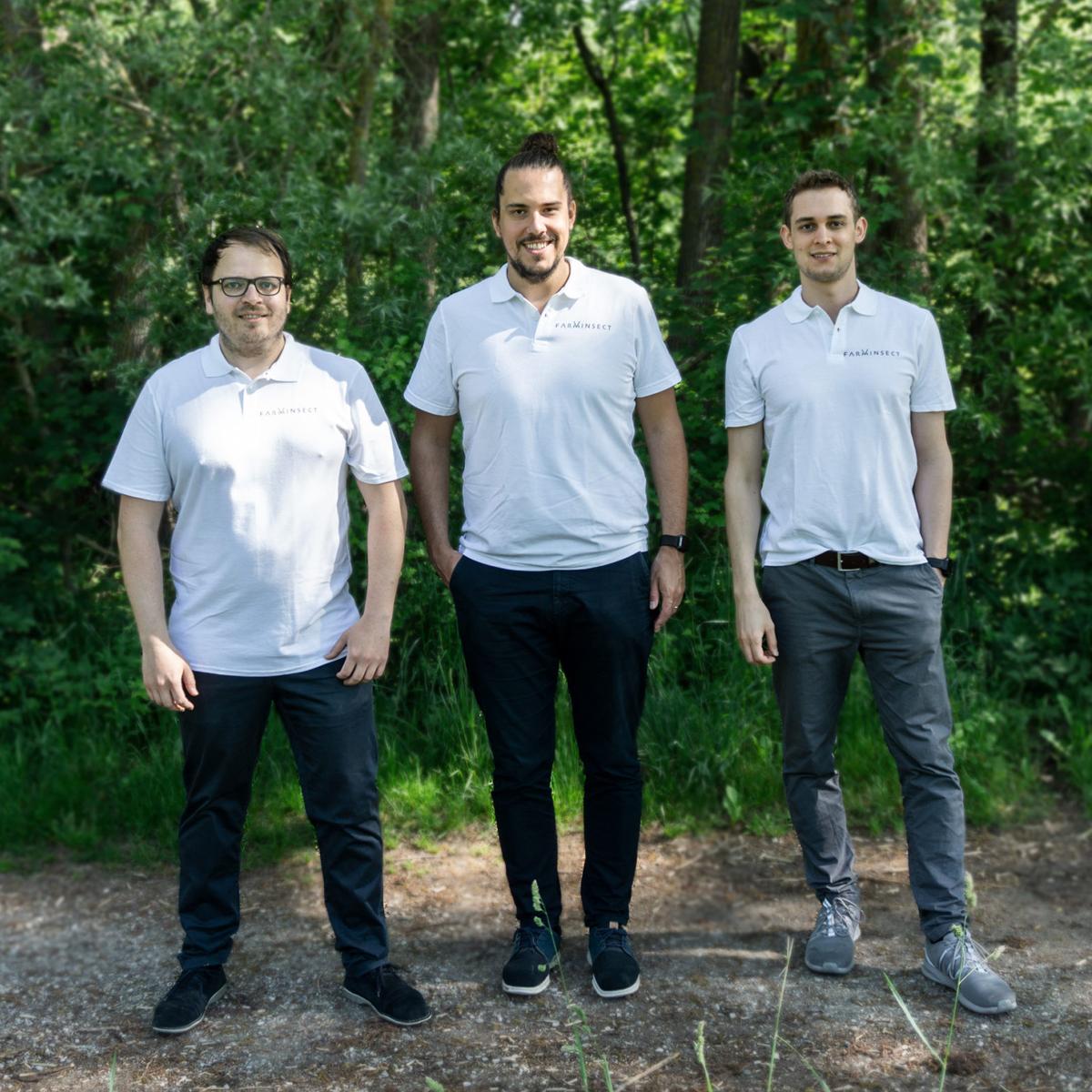 Das Gründer-Team von FarmInsect: Wolfgang Westermeier, Thomas Kühn und Andre Klöckner