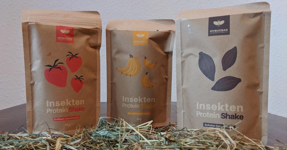 Insekten-Shakes von MyBugBar in 3 Geschmacksrichtungen